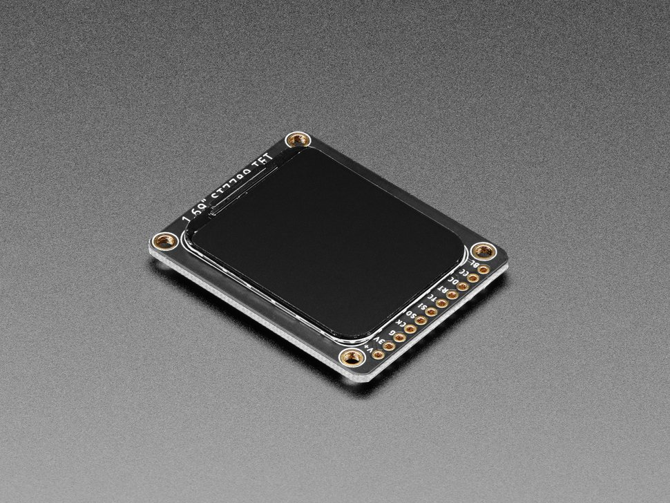 """Angled shot of 1.69"""" 280x240 Round Rectangle Color IPS TFT Display"""