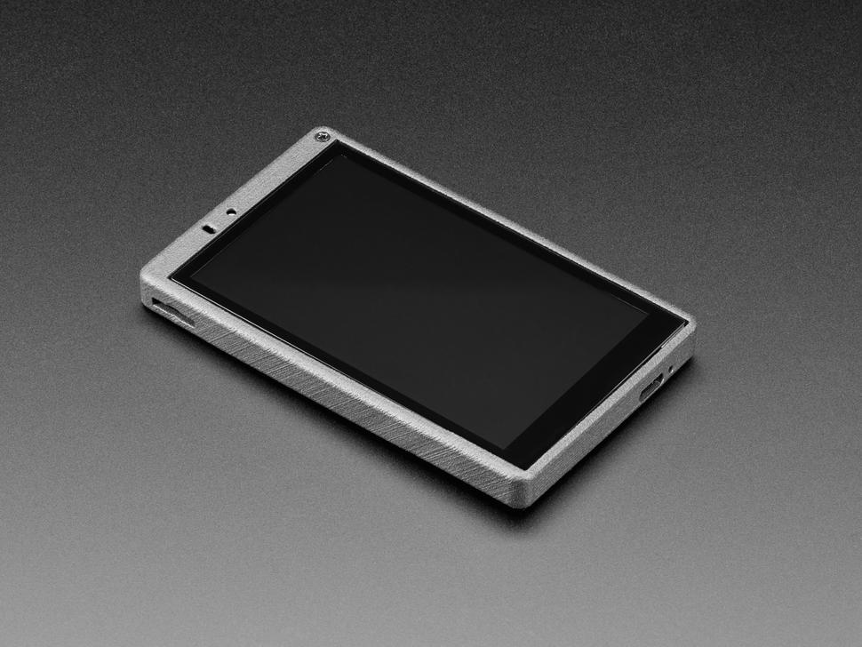 Angled shot of ESP32-S2-HMI-DevKit-1 TFT screen.