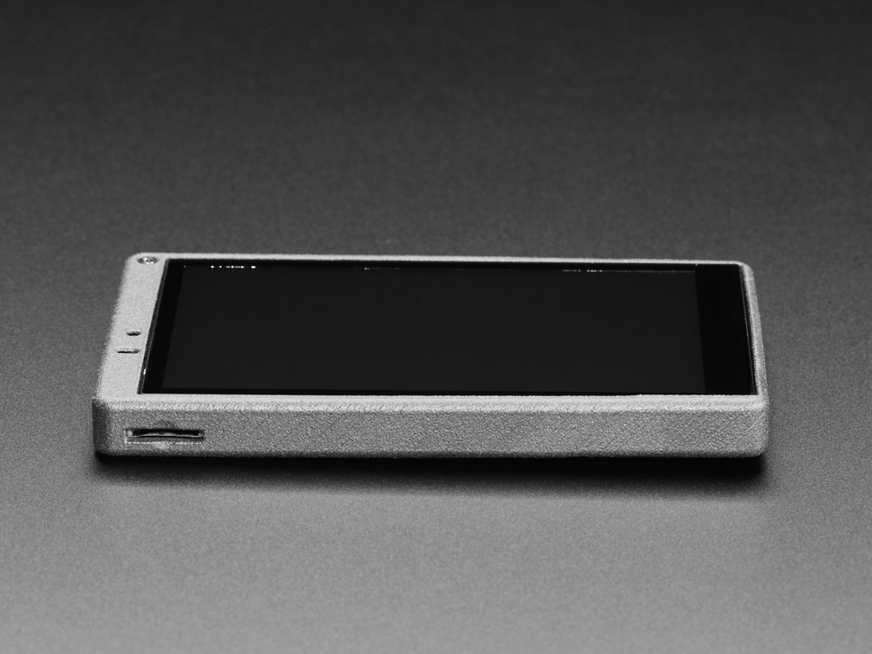 Side detail of ESP32-S2-HMI-DevKit-1 featuring microSD slot.