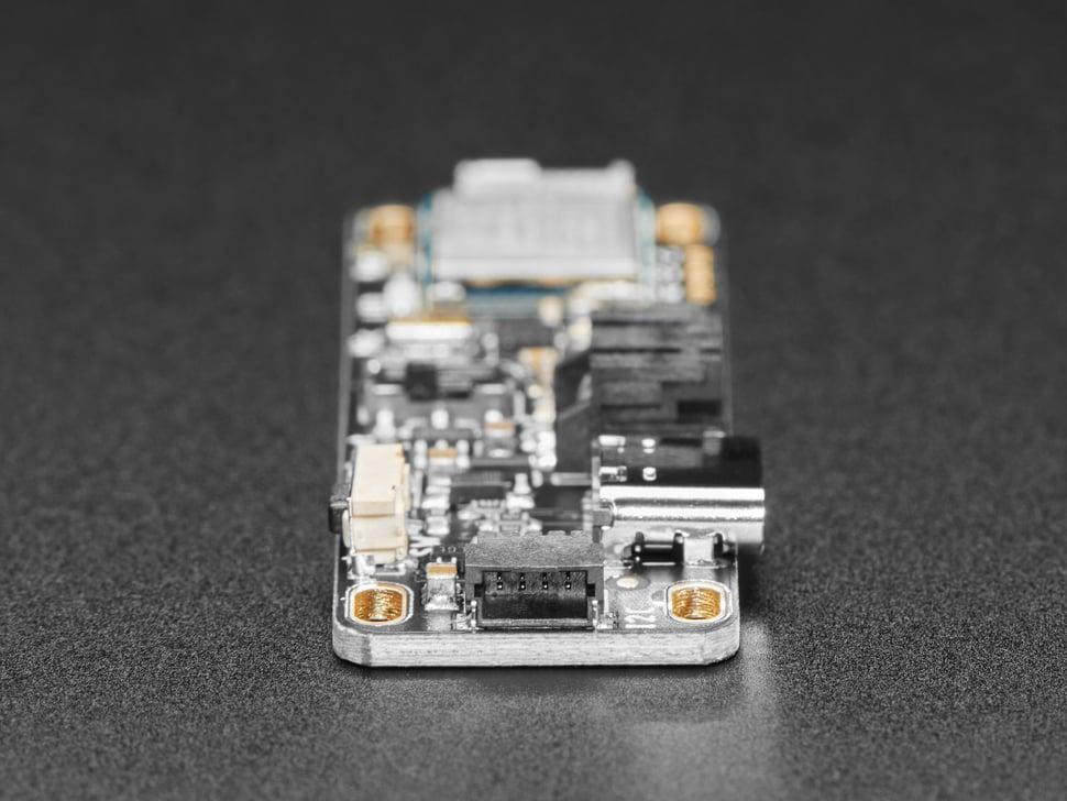 Close-up of STEMMA QT connector on Adafruit LED Glasses Driver.