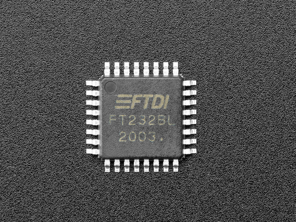 Top view of a single FT232BL Chip.