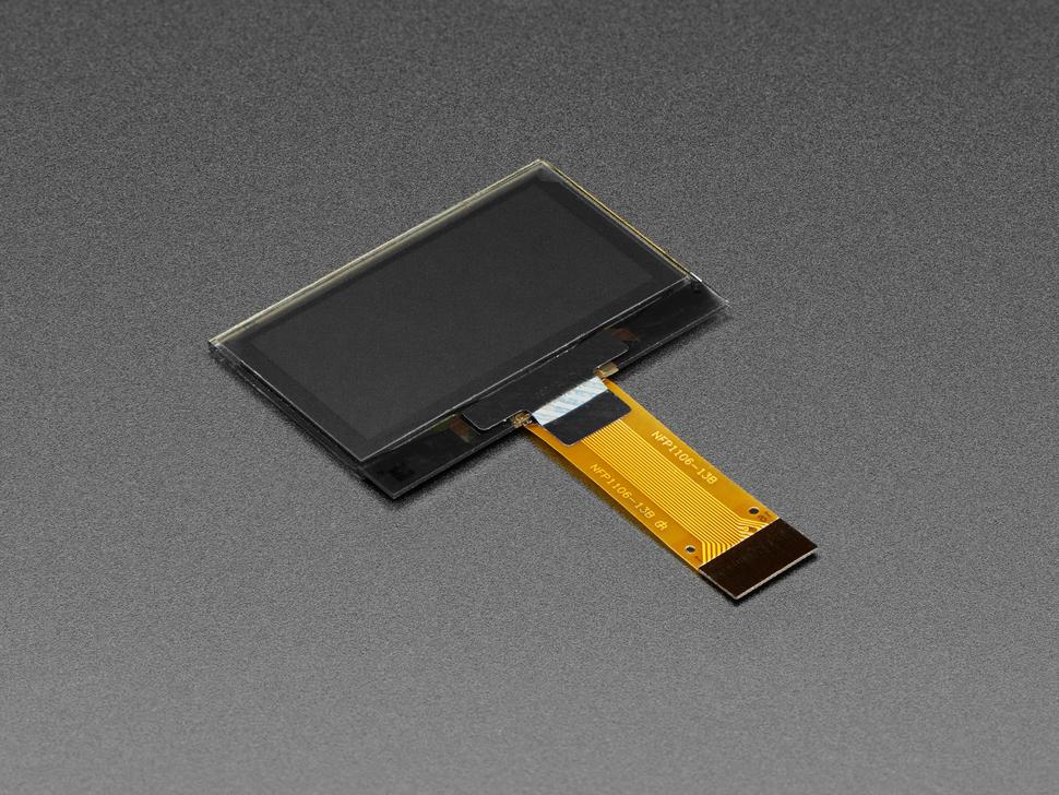 "Angled shot of 1.3"" OLED display module."