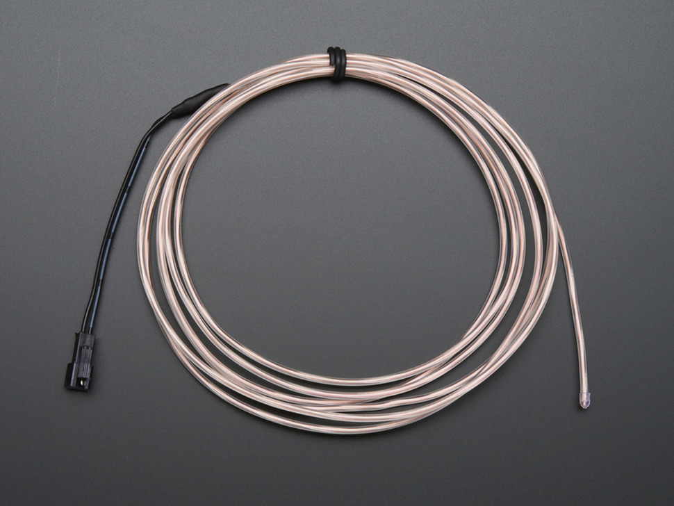 Coil of unlit EL wire