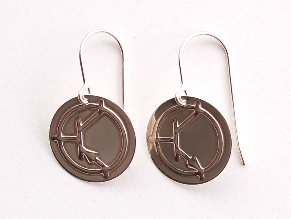 Silver Bipolar Earrings - NPN / PNP
