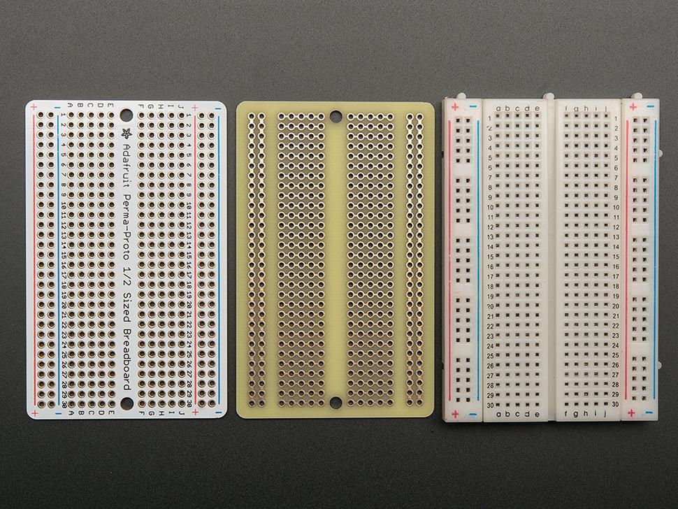 Adafruit Perma-Proto Half-sized Breadboard PCB - 3 Pack!