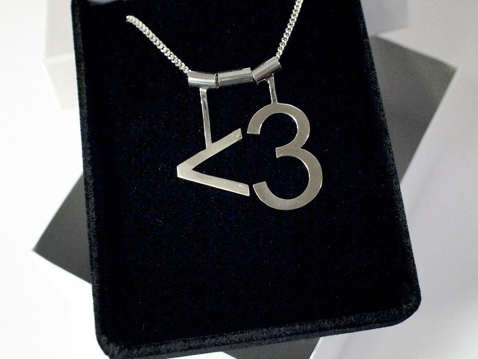 Ascii Heart <3 Necklace