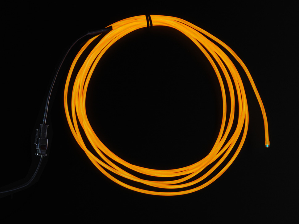 EL wire starter pack - Orange 2.5 meter (8.2 ft)