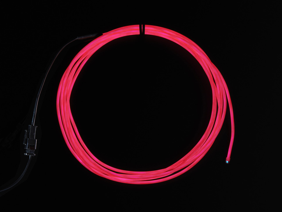 EL wire starter pack - Pink 2.5 meter (8.2 ft)