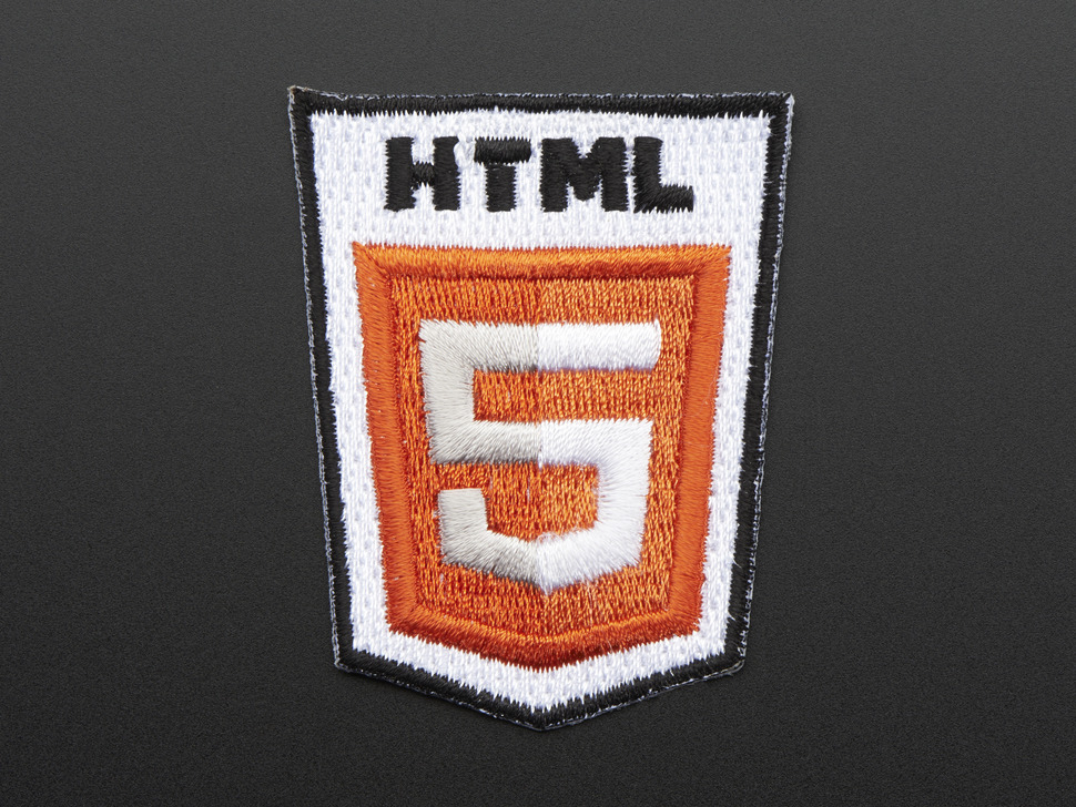 HTML 5 - Skill badge, iron-on patch