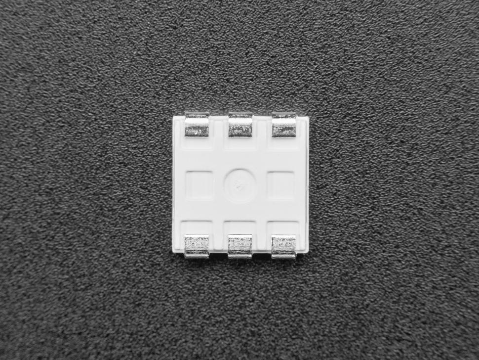 Single square RGB SMT LED, bottom contact shot