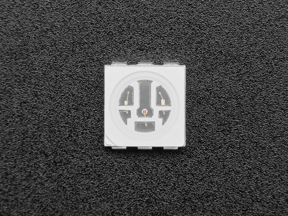 Single square RGB SMT LED, top shot