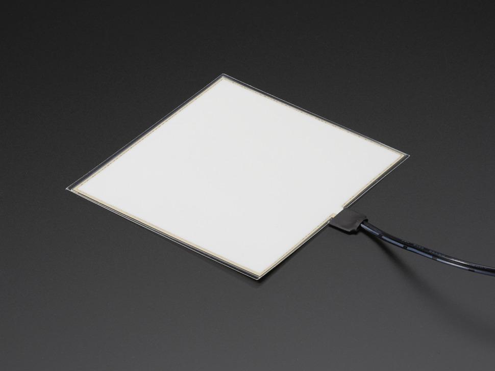 Electroluminescent (EL) Panel Starter Pack - 10cm x 10cm Aqua