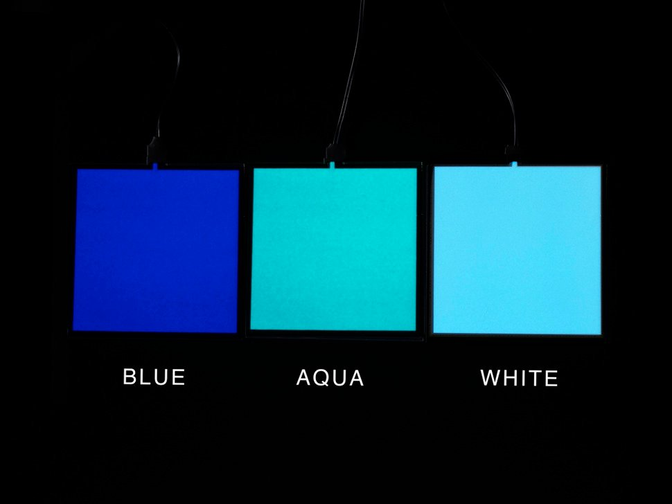 Electroluminescent (EL) Panel Starter Pack - 10cm x 10cm White