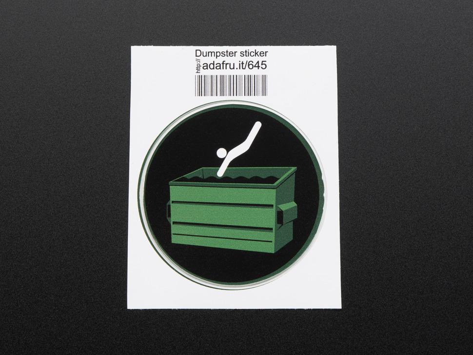 Dumpster Diving! - Sticker!