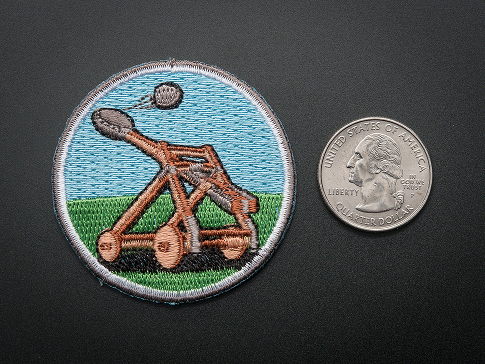 Catapult - Skill badge, iron-on patch