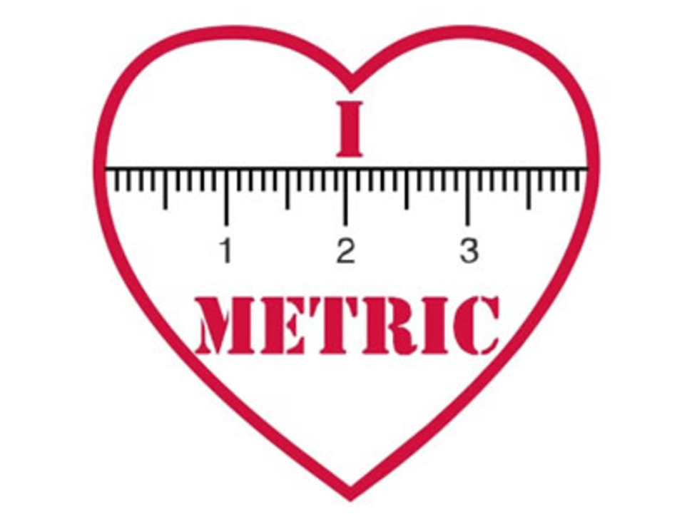 "I ""heart"" METRIC - Sticker!"