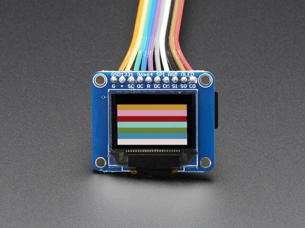 OLED Breakout Board - 16-bit Color 0.96
