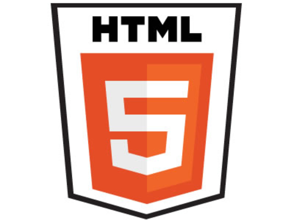 Detail view of HTML 5 sticker