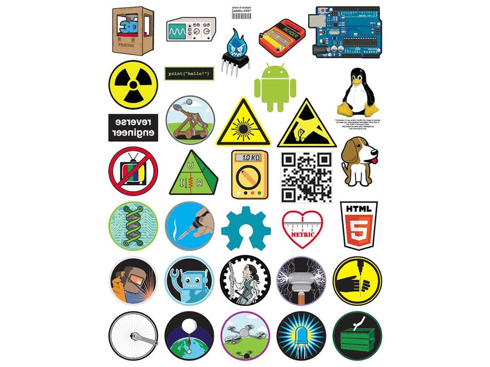 graphics for all of the stickers displayed in 5 by 7 rows