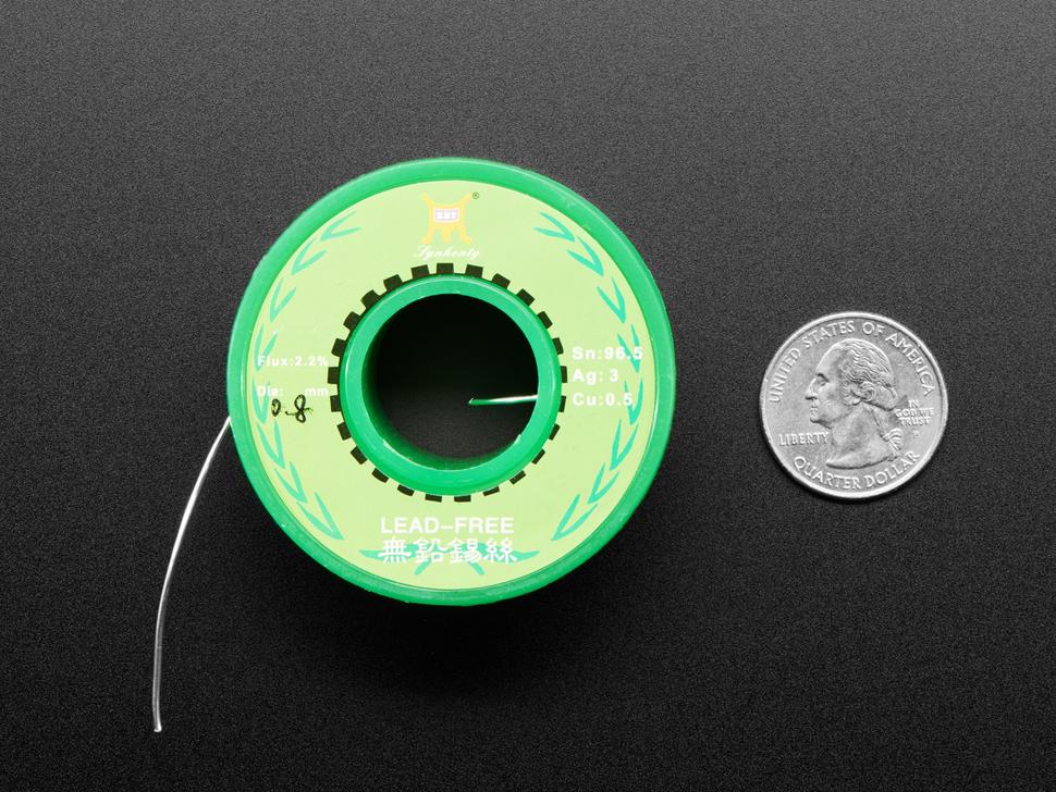 "Solder Spool - 1/4 lb SAC305 RoHS lead-free /  0.031"" rosin-core - 0.25 lb / 100 g"