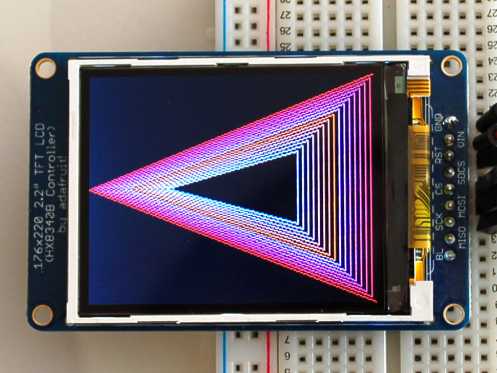 "2.2"" 18-bit color TFT LCD display with microSD card breakout - HX8340BN"