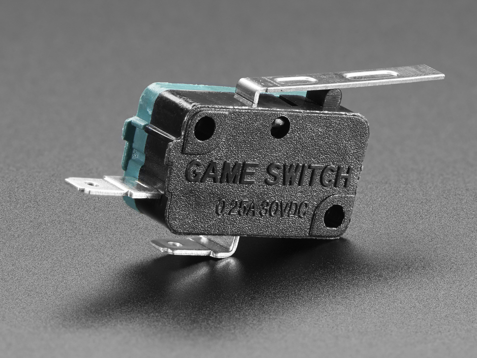 Micro Switch w/Lever - 2 Terminal