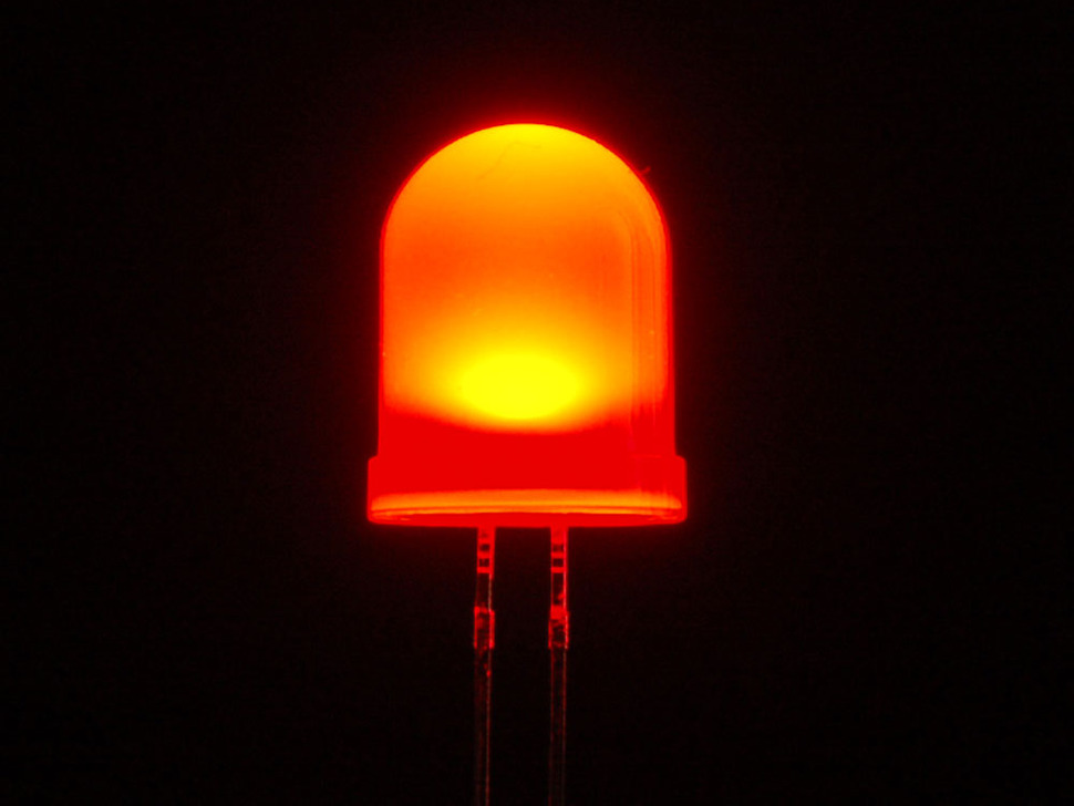 Single large LED lit up red