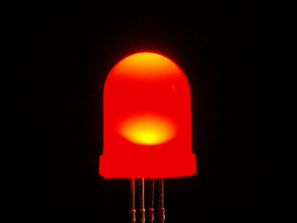 Diffused RGB (tri-color) 10mm LED (10 pack) - Common Anode