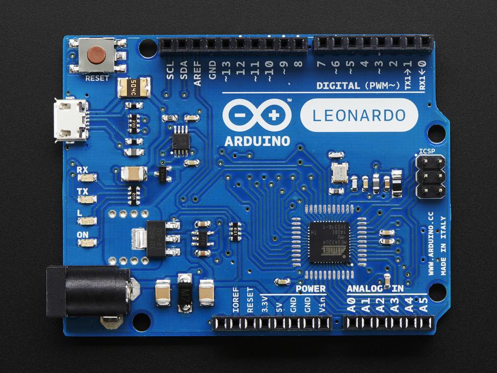 Arduino Leonardo ATmega32u4 with headers