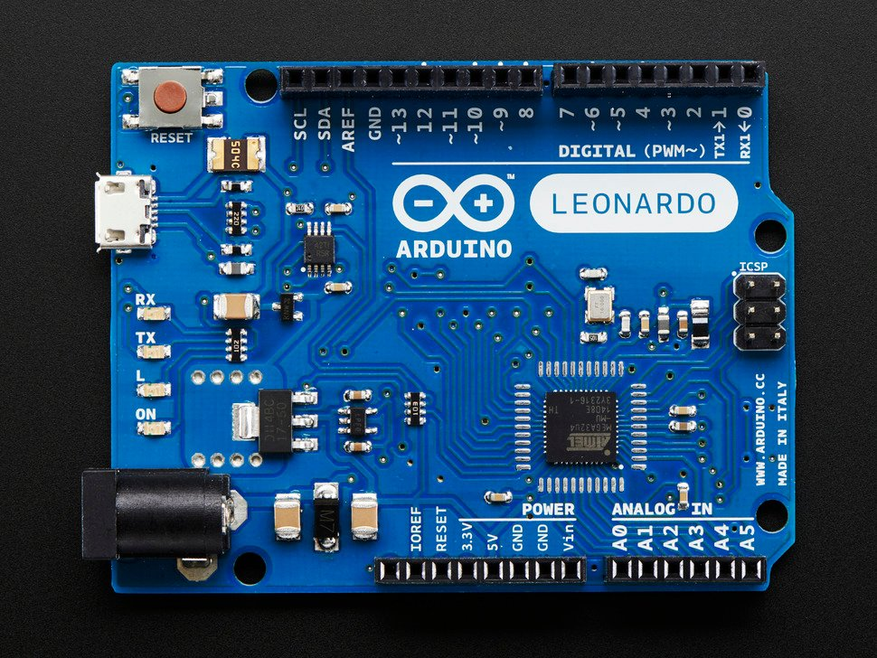Top down detail of Arduino showing components
