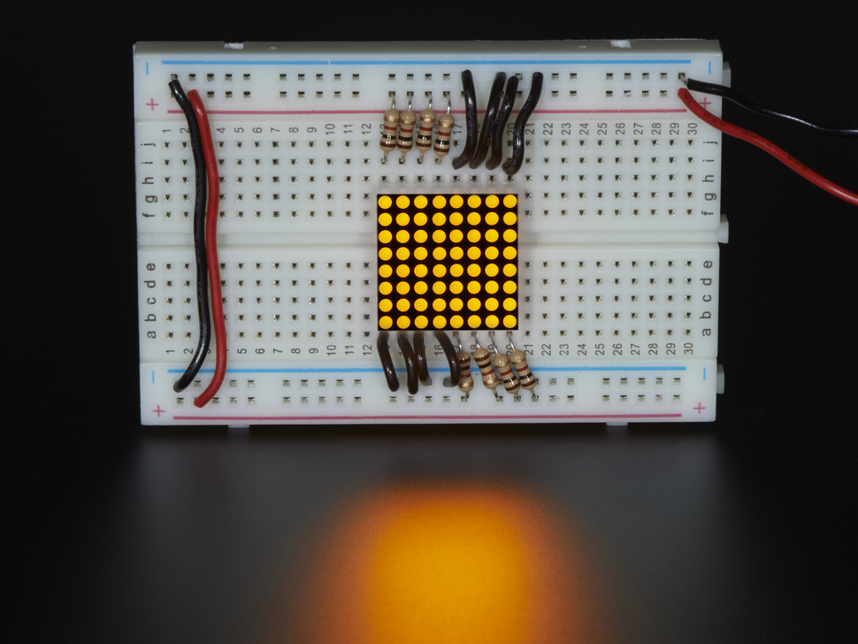 Miniature 8x8 Yellow LED Matrix