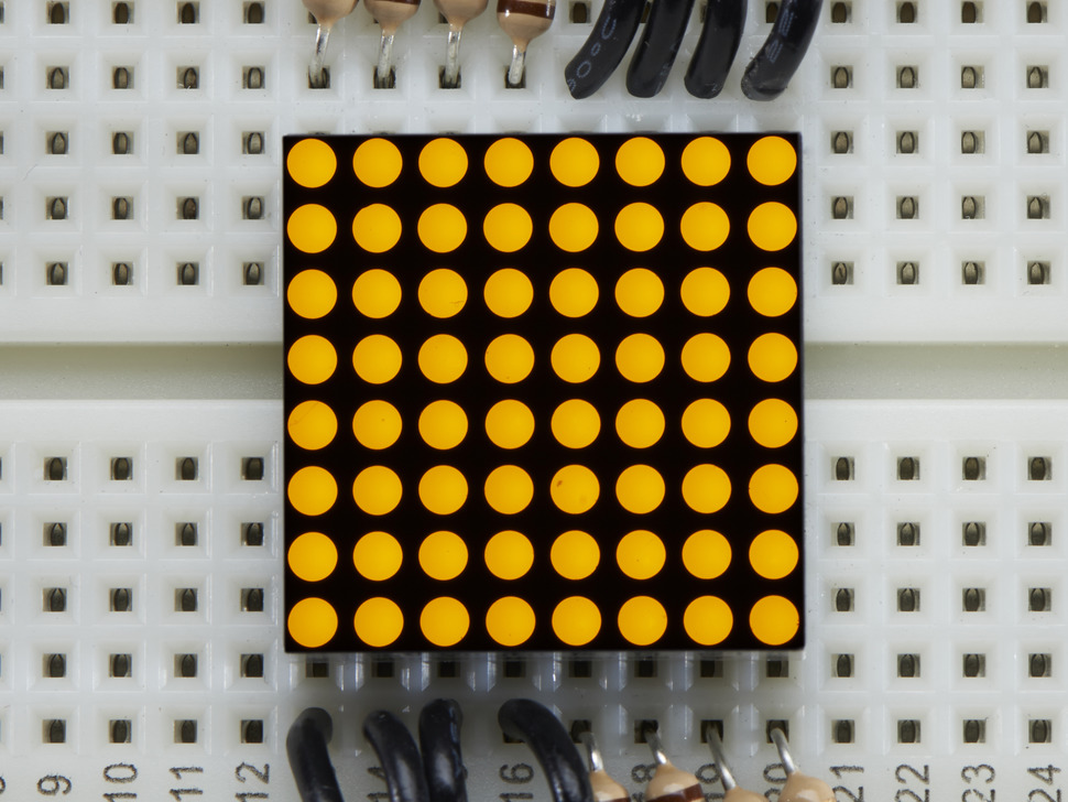 Miniature 8x8 Yellow Led Matrix.