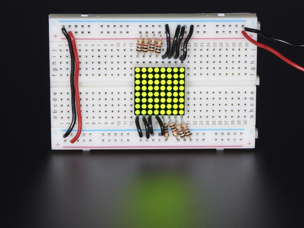 Miniature 8x8 Yellow-Green LED Matrix