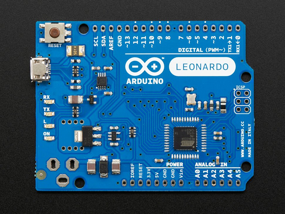 Arduino Leonardo ATmega32u4 without headers