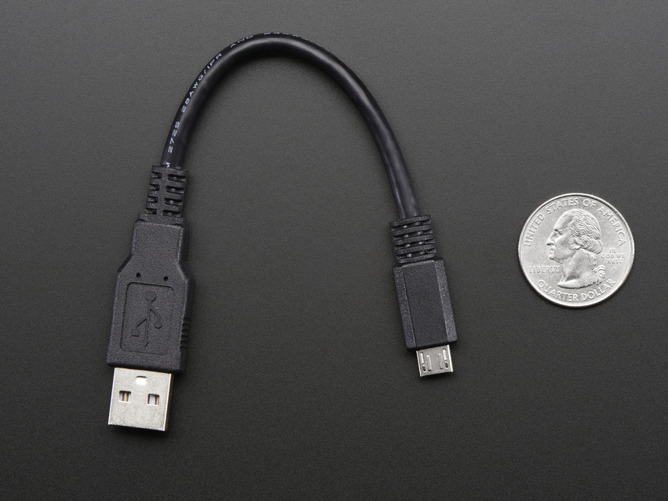 "USB cable - 6"" A/MicroB"