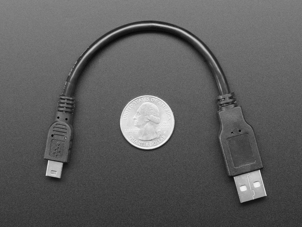 Cable next to quarter