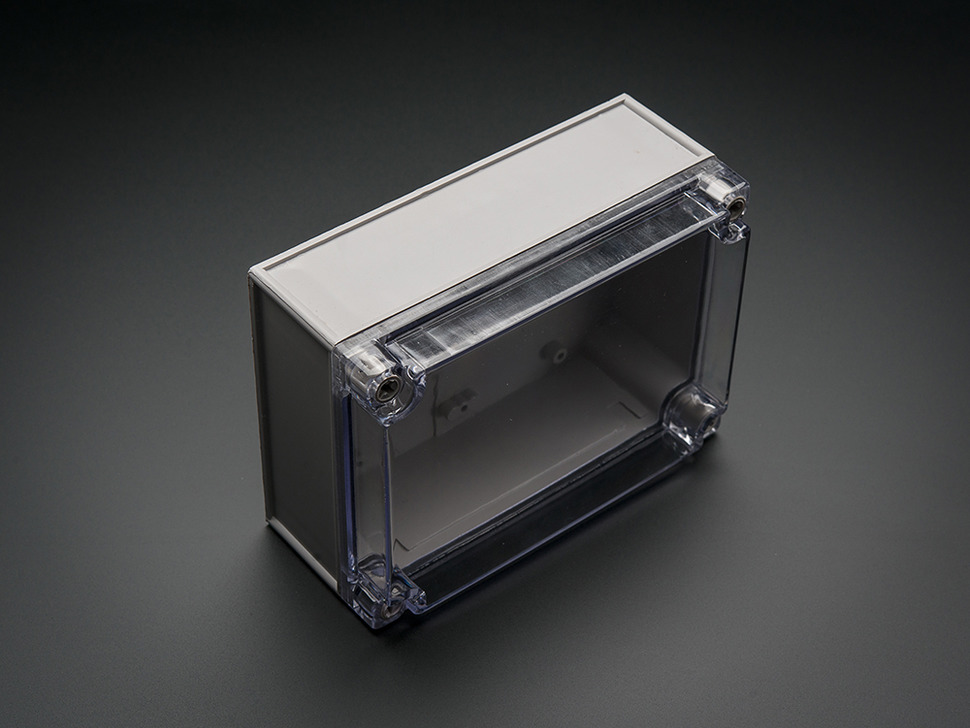 Angle profile shot of enclosure