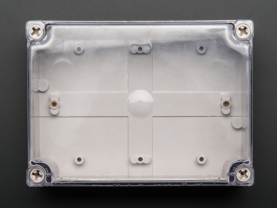 Top down shot of assembled enclosure