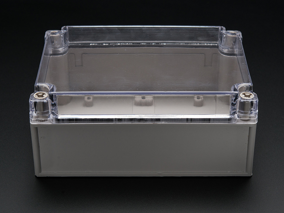 Large Plastic Project Enclosure - Weatherproof with Clear Top