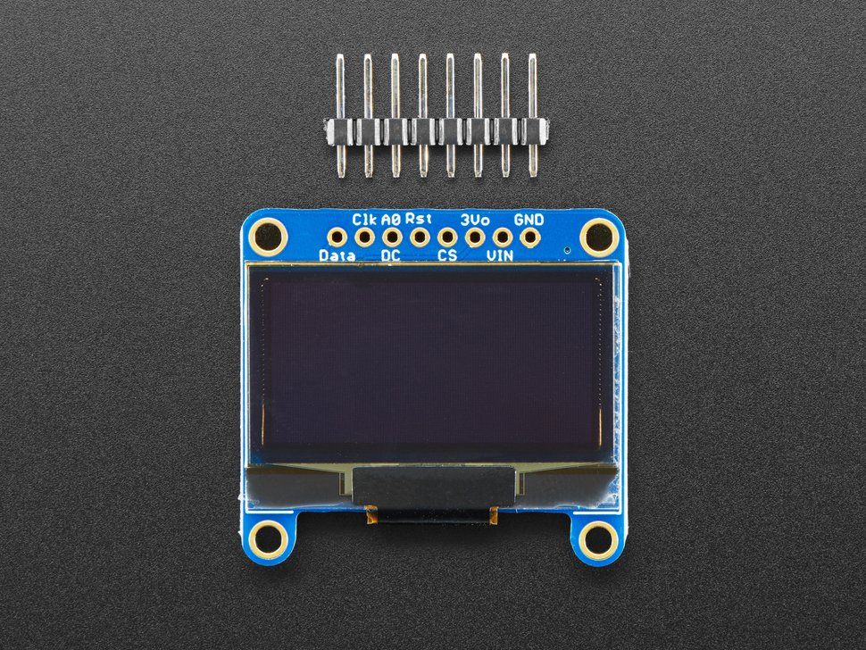 "Monochrome 1.3"" 128x64 OLED graphic display - STEMMA QT / Qwiic"