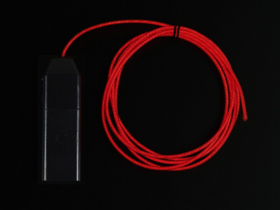 Red EL Flowing Effect Wire with Inverter