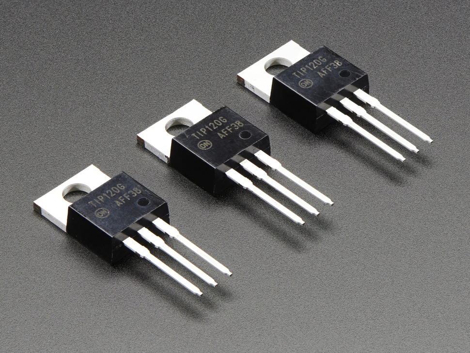 TIP120 Power Darlington Transistors - 3 pack