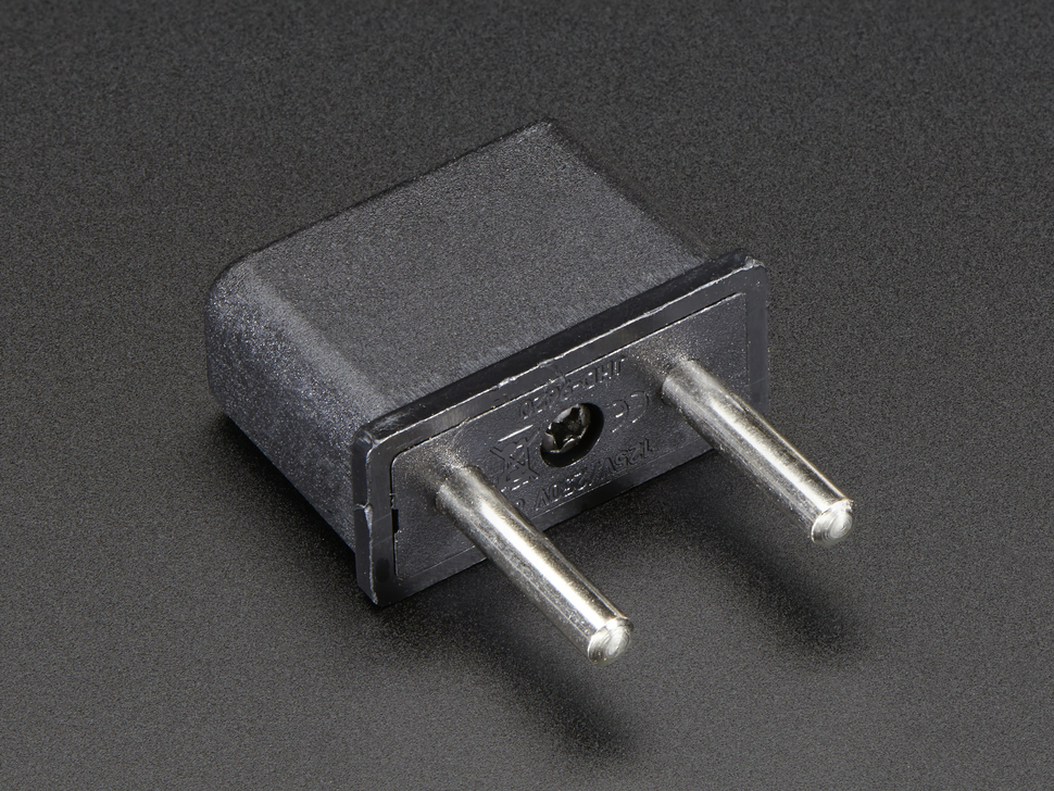 Euro Plug Power Adapter - Round Euro plug