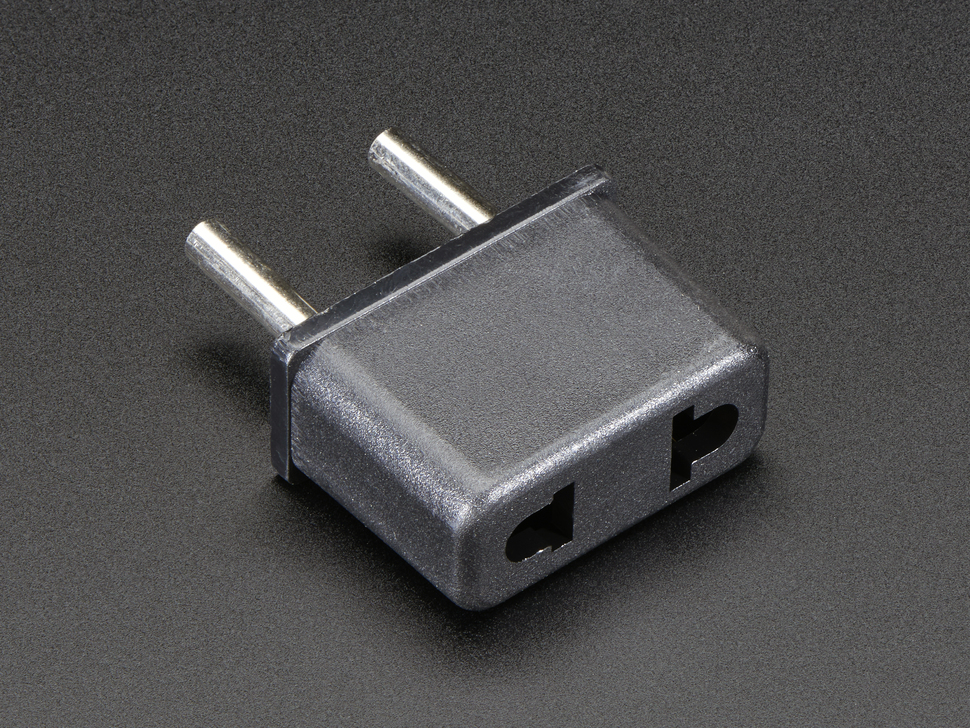 Euro Plug Power Adapter - US 2 Prong socket
