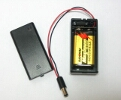 9V battery holder with switch & 5.5mm/2.1mm plug