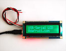 USB + Serial Backpack Kit with 16x2 RGB backlight negative LCD