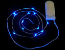 Wire Light LED Strand - 12 Blue LEDs + Coin Cell Holder