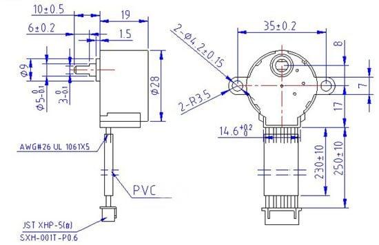 New product small reduction stepper motor 5vdc 48 step for Micro stepper motor datasheet
