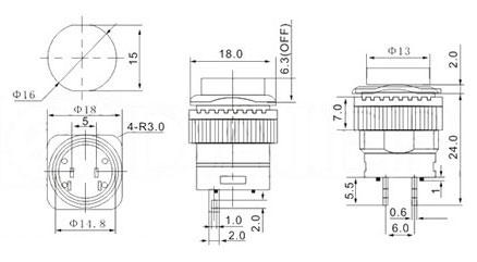 16mm illuminated pushbutton diagram