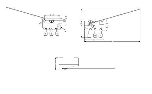 Micro Switch W  Wire - Three Terminals Id  820